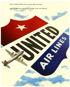 50d65920e1 Great vintage United Airlines ad. Travel Ads