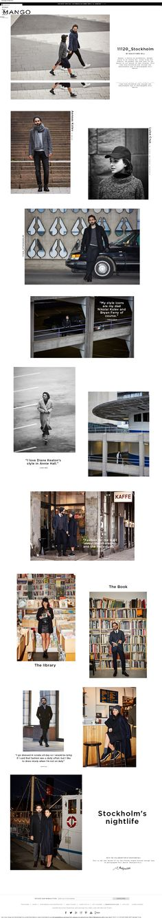 Case Study - Destination URL driven from Mango Newsletter showcasing (by City!) - fashion stories/street style - real life couples. Interesting idea, thumbs up!