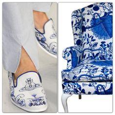 Delft Blue shoes