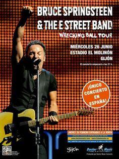 Bruce Springsteen - Wrecking Ball Tour - Gijon Spain - Mini Print