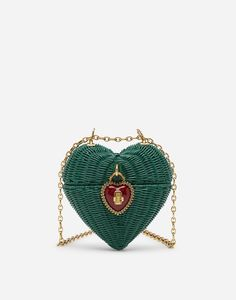 Dolce & Gabbana, Painted Wicker, Luxury Purses, Side Bags, Vintage Purses, Heart Shapes, Straw Bag, Coin Purse, Mini