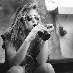 #beer #Ivy Sullivan #gillian zinser #90210 #Black and White #summer #food #drink #womendrinkingbeer