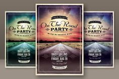 Retro Grunge Party Flyer 2 Templates Retro style and unique flyer, poster, invitation design for your next party or project. The final pa by Cruzine Dj Magic, Grunge Party, Party Eyes, Flyer Design Inspiration, Retro Party, Magic Eyes, Vintage Graphic Design, Business Brochure, Flyer Template