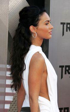 Megan Fox half updo; I like this!