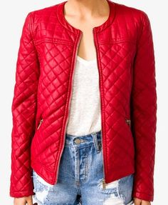 Wavy Paneled Quilted Jacket