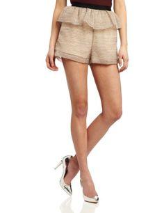 Bcbgeneration Women's Peplum Short, Beige, 0