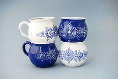 keram-ka / Buclák bílý 10 cm Contemporary Decorative Art, Country Crafts, Naive Art, Flower Art, Folk Art, Porcelain, Pottery, Crystals, Artist