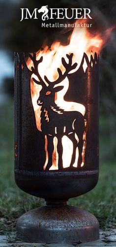 Feuerkorb Hirsch - handgefertigt von JM-Feuer