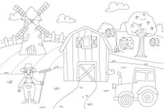 How to Draw Countryside Free Tutorial for Kids Drawing Tutorials For Kids, Drawing For Kids, Coloring Tutorial, Blog Categories, Step By Step Drawing, Colouring Pages, Learn To Draw, Countryside, Activities For Kids