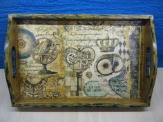 """""""Το κλειδί της καρδιάς"""" Vintage World Maps"""