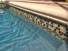 Pool Tile Ideas pool with glass tile interior Beautiful Tile Work In This Pool