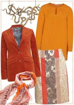orange style by Brigitte von Boch #bevonboch