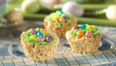 easter basket rice krispy treats