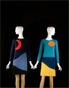 Yves Saint Laurent, 1966 Who said colour block was a new idea in fashion??