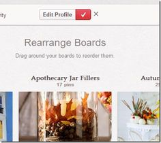 How to arrange your Pinterest Boards Alphabetically.  I didn't know it was so simple!  It took me about 10-20 minutes this morning to do it.  But I have a lot of boards!