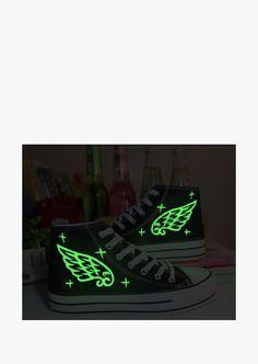 Glow In The Dark High Top Platform Sneakers