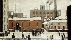 Snow in Manchester 1946 By L-S-Lowry