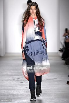 A model walks the runway at the Public School Autumn Winter 2015 fashion show during New York Fashion Week on February 15, 2015 in New York, United States.
