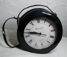 Vintage Patent Leather Clock Purse - Womens Handbags & Bags