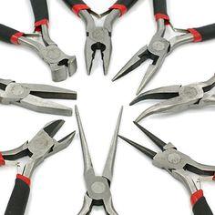 8 Zangen Profi Set für Schmuck Herstellung Bastelwerkzeug Schmuckzange | Zangen und Werkzeug | günstig kaufen bei Bacabella.com Schmuckherstellung | Perlen, Schmuck und Schmuckzubehör zum Schmuck selber machen | Schmuck basteln DIY DoItYourself