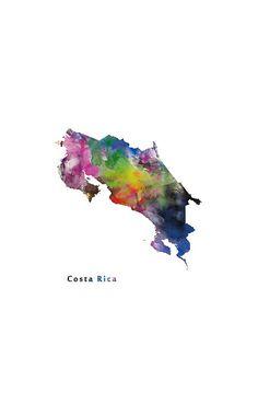 Costa Rica #costarica #state #map #print #art #samsung #galaxy #cases #skins #tech #phone