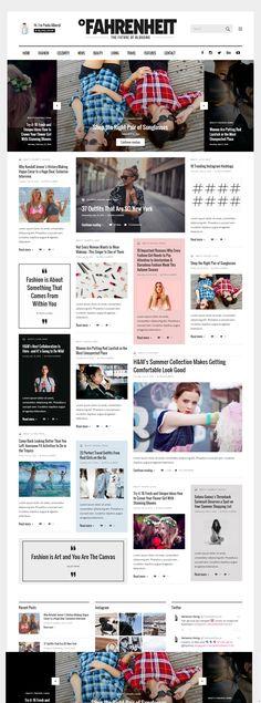 Premium Wordpress Themes, Web Design Inspiration, Summer Collection, Contemporary Design, Lifestyle Blog, Cool Style, Magazine, Live, Simple