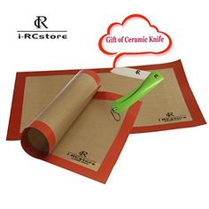 RC 15.7 x 11 Inch Non Stick Silicone Baking Mat (Pack of 2) *** Awesome product. Click the image : Baking Tools and Accessories