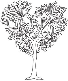 Coloring Page World: Tree of Love