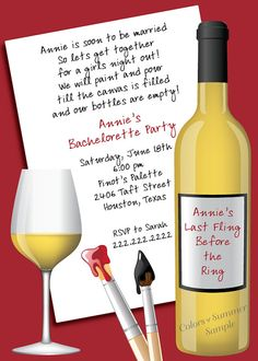 1000 images about work invitations on pinterest wine for Wine paint party
