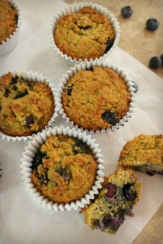 Blueberry Muffins with coconut and chia seeds