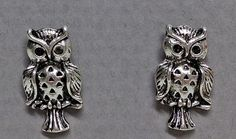 Antique Silver Plated Owl Earrings for (Now Reduced to Owl Earrings, Stocking Fillers, Ear Piercings, Antique Silver, Silver Plate, Brooch, Jewellery, Antiques, Style