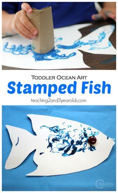 Toddler Ocean Art - Process Art for your Ocean Theme - Teaching 2 and 3 year olds