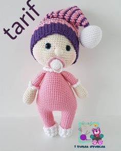 Regrann from - Ustune tarif yazmamisim bir oncekinde, yeni fotosunuda koydum. Amigurumi Toys, Amigurumi Patterns, Doll Patterns, Doll Toys, Baby Dolls, Crochet Toys, Free Pattern, Dinosaur Stuffed Animal, Handmade Items