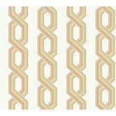 "Found it at Wayfair - Ashford Geometrics 27' x 27"" Retro Links Geometric Wallpaper"