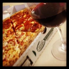 Pizza + Pinot noir