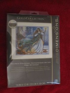 Woodland Entrantress Enchanteres Dimensions Gold Counted Cross Stitch Kit 35173
