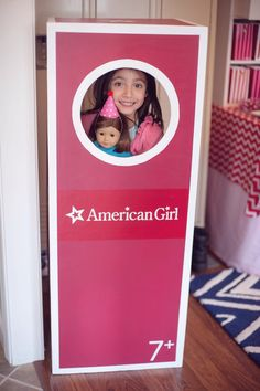 LIfesize photo booth from American Girl Doll Themed Birthday Party at Kara's Party Ideas. See more at karaspartyideas.com!