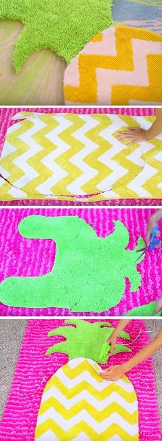 DIY Fruit Rug. Lovely and cute for any room for girls and also easy and fun to sew!