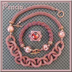 NO LINK - Just inspiration | Pencio - parure crochet delicas rocailles murano