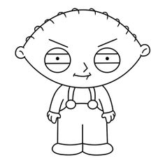 How to Draw Stewie Griffin from Family Guy - How to Draw Cartoons Trippy Drawings, Easy Cartoon Drawings, Art Drawings Sketches, Disney Drawings, Easy Drawings, Guy Drawing, Character Drawing, Drawing Ideas, Easy Cartoon Characters