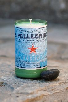 Create an original canddle made from San Pellegrino plastic bottle #recycling #bottles