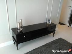Szafka RTV Ludwik, stolik, szafka, RTV, szuflady, półka, glamour, stylowa