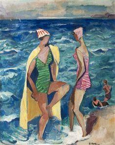 Koupání by Pravoslav Kotík Pravoslav Kotík v Praze) byl český malíř a grafik. Siena, Auction, Artist, Bathing, Artwork, Painting, Modern, Bath, Work Of Art
