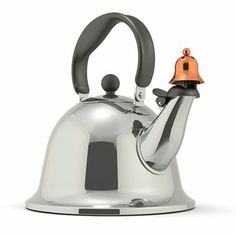 so pleasing with the little bell! Michael Graves Design Bells and Whistles Stainless Steel Tea Kettle