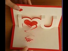 Cute Valentine gifts for boyfriends: How to make a V-Day pop up card (#1)