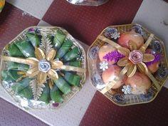 Coconut Decoration, Indian Weddings, Event Decor, Decorative Plates, Wedding Decorations, Tray, Anna, Marriage, Basket