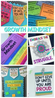 Growth Mindset posters, coloring pages and activities to engage your students…