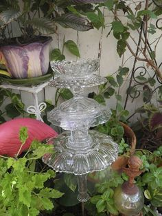 finally started making my plate flowers and glass towers what fun, crafts…