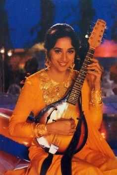 Bollywood Saree, Bollywood Fashion, Timeless Beauty, True Beauty, Hum Aapke Hain Koun, Shashi Kapoor, Sharara Suit, Anamika Khanna, Vintage Bollywood