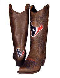 Houston Texans Women's Embroidered Western Boot $299.99 http://www.fansedge.com/Houston-Texans-Womens-Embroidered-Western-Boot-_1499135320_PD.html?social=pinterest_pfid47-36306